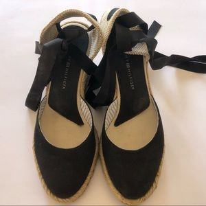 Tommy Hilfiger Tia Ankle Tie Espadrilles Size 6
